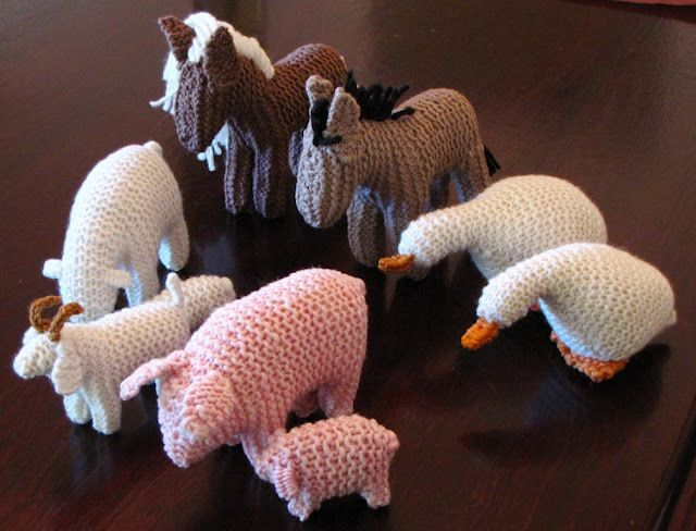 knitted animals from Natural Suburbia | Waldorf | Knitting ...