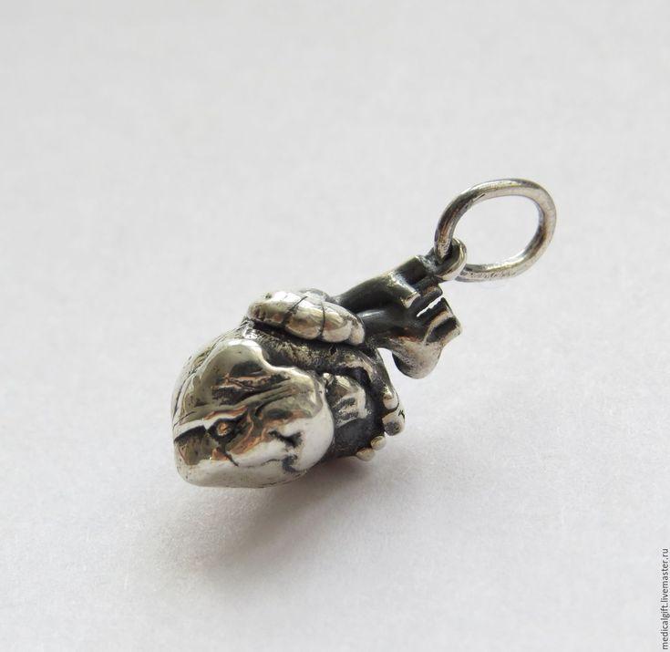Купить Кулон серебро Анатомическое Сердце - подарок врачу, подарок доктору…