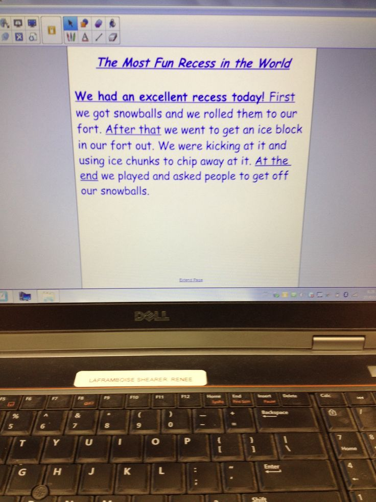 Another shared writing piece. A recount. Tomorrow we will assess it and add a satisfying ending.