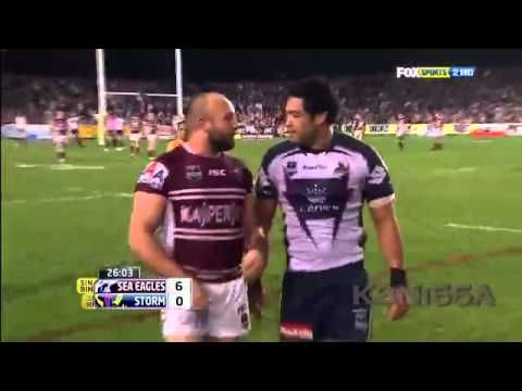 Manly Sea Eagles vs Melbourne Storm Fight 2011 Blair vs Stewart