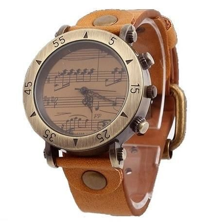 Genuine Leather Piano Melody Watch
