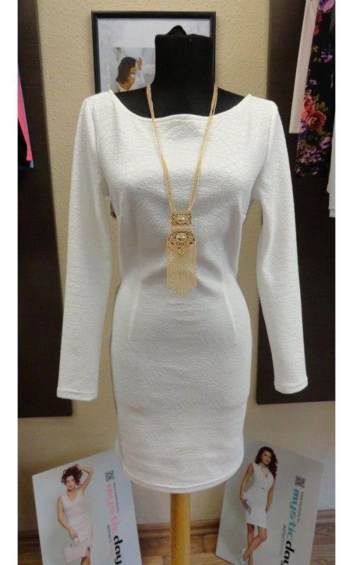 Envy fehér magában mintás x-pántos ruha