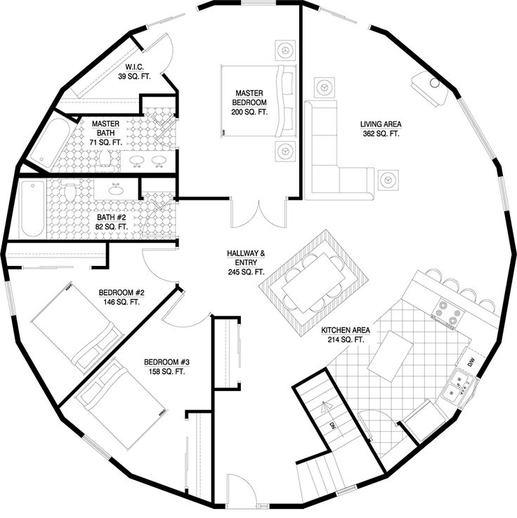 Deltec homes floorplan gallery round floorplans for Round home plans