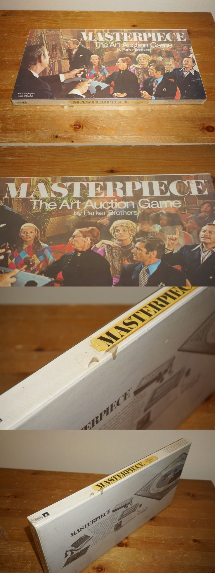 Vintage manufacture 19100 masterpiece the art auction game parker brothers vintage 1970 brand new sealed