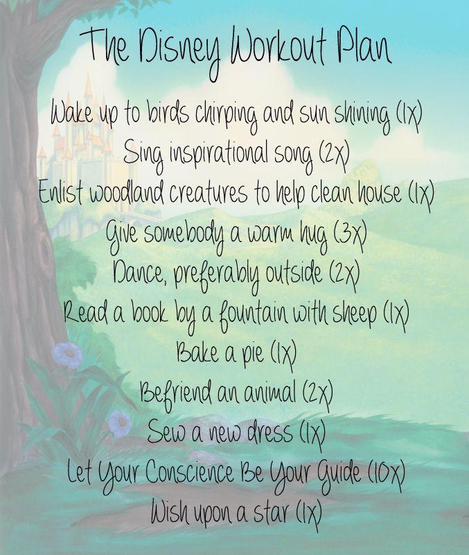 The Disney Workout Plan