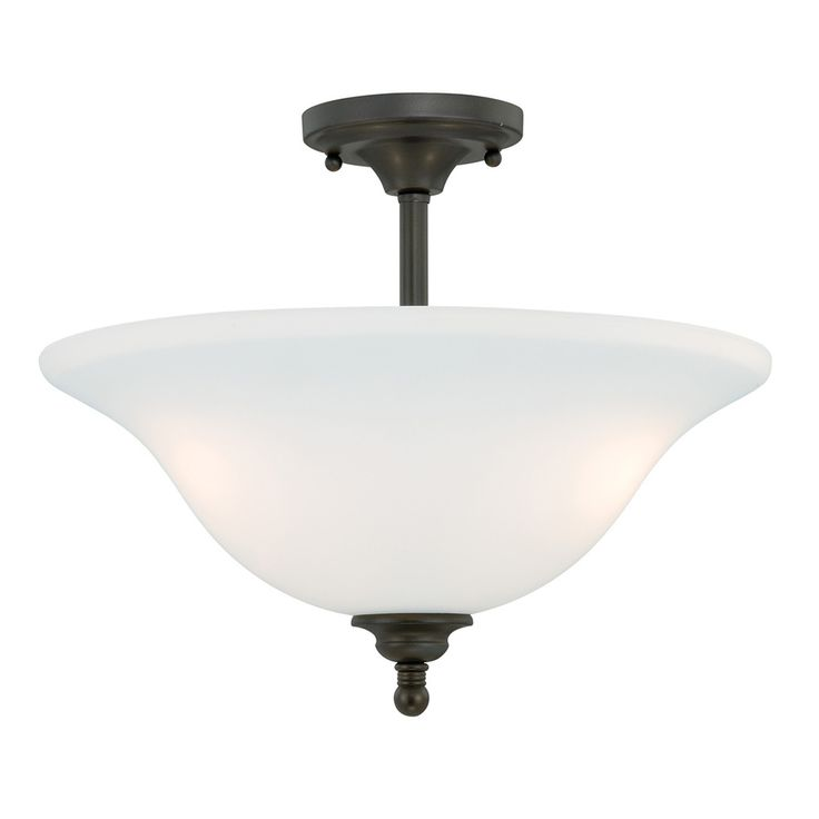 cascadia concord 1575in w oil rubbed bronze frosted glass semiflush mount light atg11554228