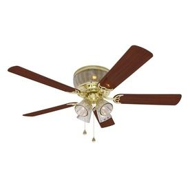 Harbor Breeze 52-in Wolcott Polished Brass Ceiling Fan ENERGY STAR