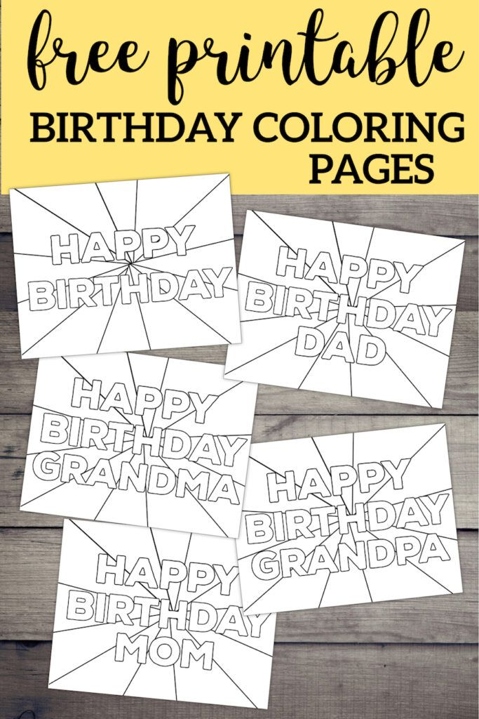Free Printable Happy Birthday Coloring Pages Birthday Coloring