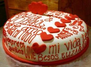pastel de san valentin por encargo