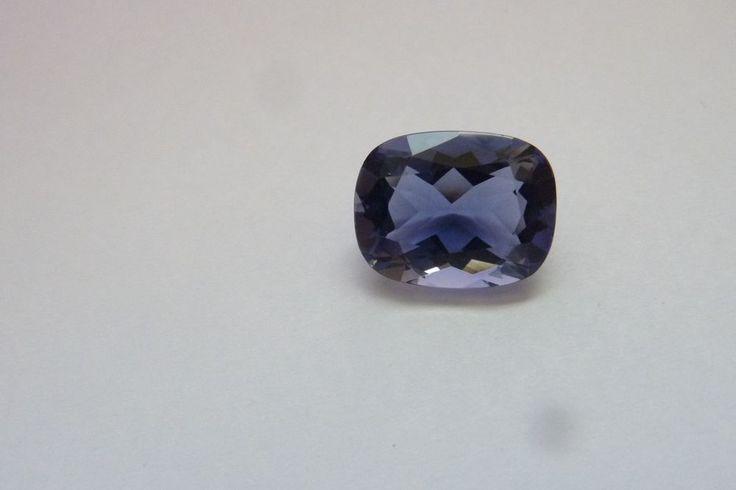 4.03 Cts Cushion Shape Blue Color 100% Natural Iolite Loose Gemstone ~ 12*9 MM #KinuBabaGems