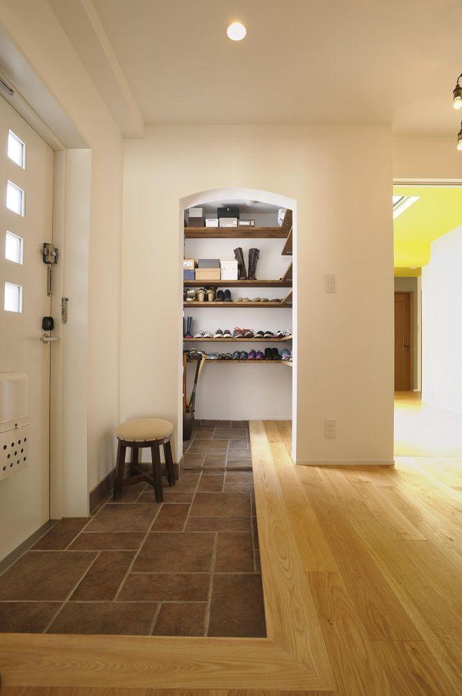 シュークローク、玄関、エントランスホール、土間、靴箱、リノベーション、
