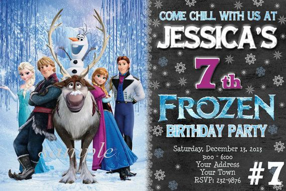 Disney Frozen Invitations - 20 Printed Birthday Party invites with envelopes on Etsy, $20.00