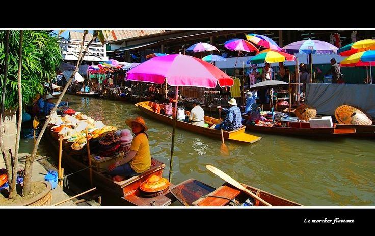 Thaïlande : Le Marché Flottant. - Damnoen Saduak, Kanchanaburi: Market, Marché Flottant, Photo