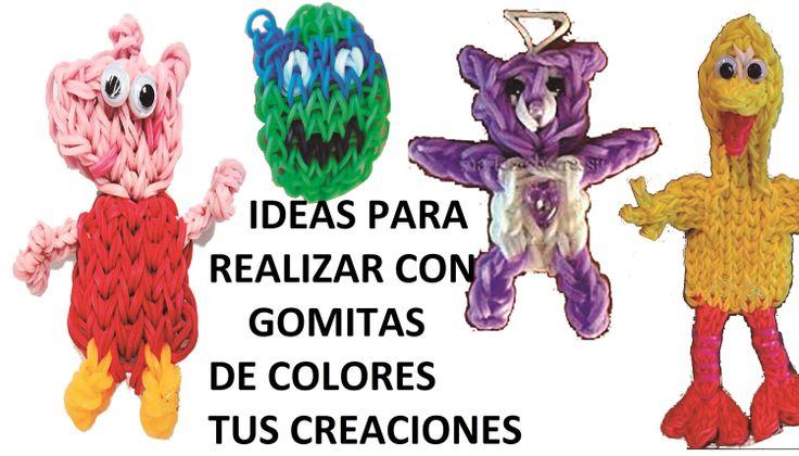 + DE 100 IDEAS PARA HACER CON GOMITAS. CHARMS Y FIGURAS CON EL TELAR RAI...