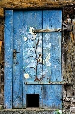 Pattern on Blue Door   ..rh                                                                                                                                                      More