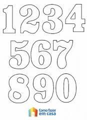 moldes de numeros para imprimir 1