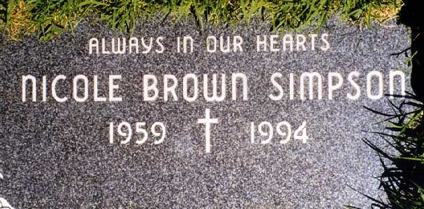 Nicole Brown Simpson 1959-1994 Ascension Cemetery, Orange County California