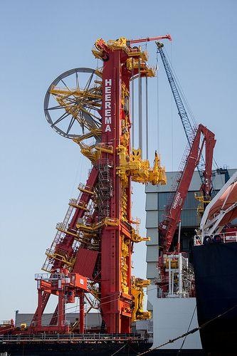 Heerema Aegir Crane Wiltonhaven Rotterdam #Wiltonhaven #Rotterdam #Harbor #Dock #010 #Holland #Sky #Blue #Sunny #Architecture #Urban #City #World #Port #Netherlands #Roffa #Canon #700D #Photography