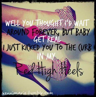 Red High Heels - Kellie Pickler