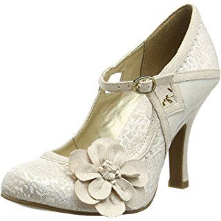 Ruby Shoo Women's Cindy Silver Mary Jane Pumps