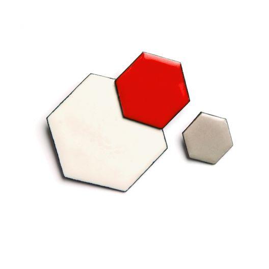 honeycomb cluster brooch by megan perkins