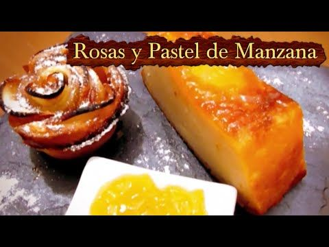 Como hacer un pastel de manzana y rosas de manzana asada, postres fáciles - YouTube