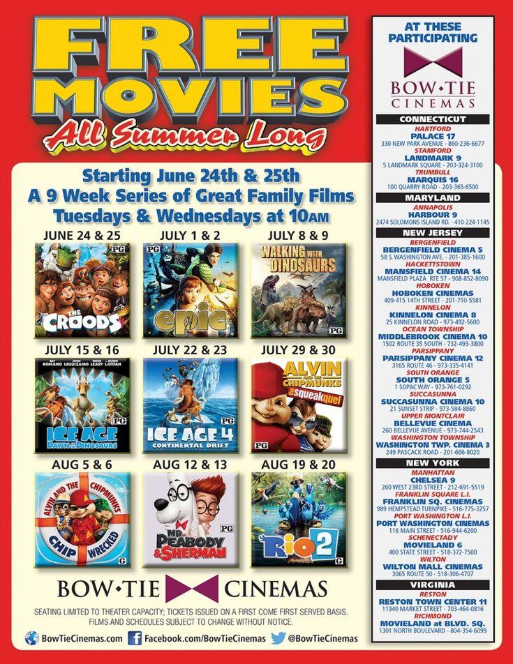 Bow Tie Cinemas' Free Kids Summer Film Series