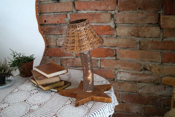 Vintage Swedish Night Lamp Small Wooden Table Lamp Wood Lamp