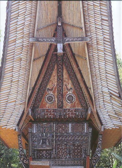 A tongkonan - Toraja area, Sulawesi (Celebes).