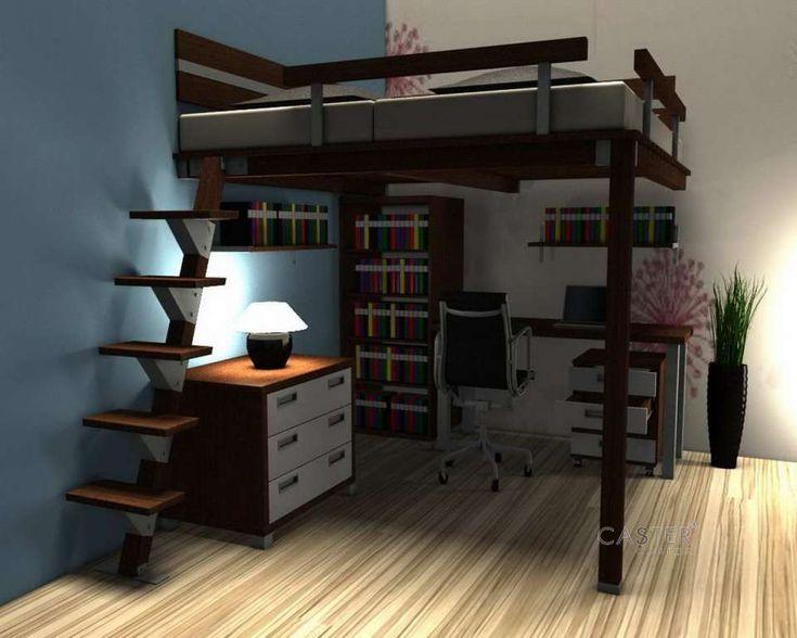 die besten 25 hochbett f r erwachsene ideen auf pinterest etagenbetten f r erwachsene king. Black Bedroom Furniture Sets. Home Design Ideas