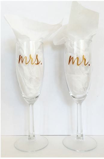 Couples Champagne Glasses - wedding gift - bridal shower gift - by FuzzHeadCrafts on Etsy