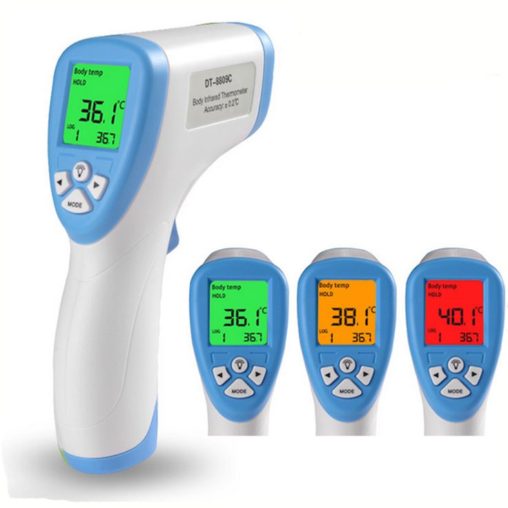 3 Colors 1 PCS  Forehead Non-contact Infrared Baby Thermometer with LCD Backlight Digital Thermometer Health Baby Care #Affiliate