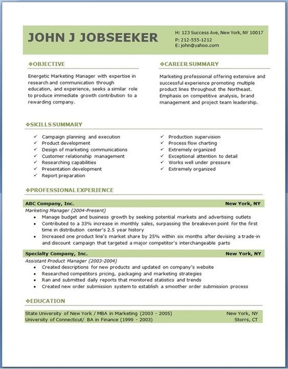ECO executive level resume template Cévé Sample resume templates