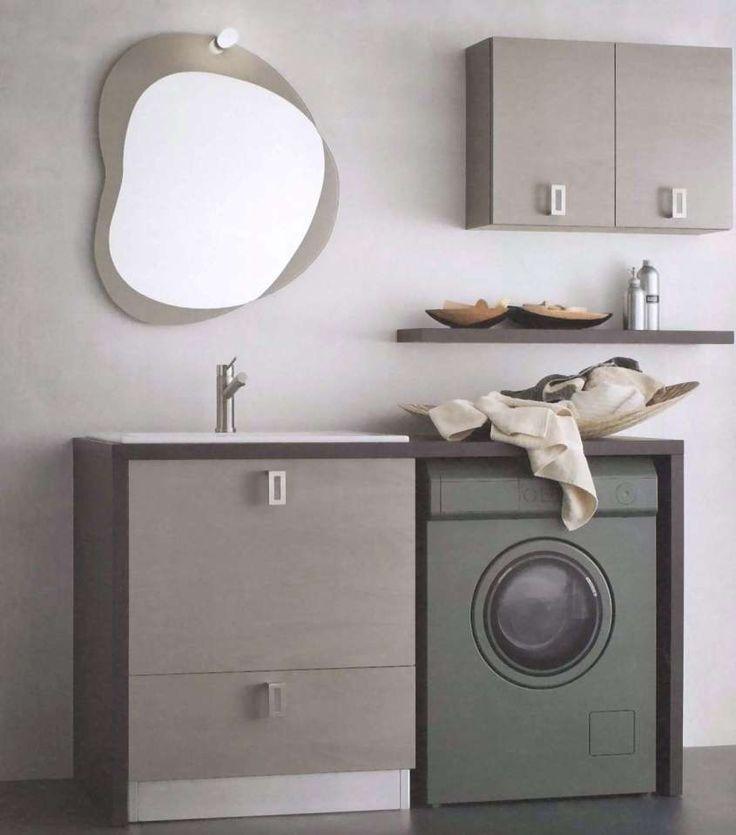 Bagno piccolo con lavatrice - Piccoli arredi per bagno con lavatrice