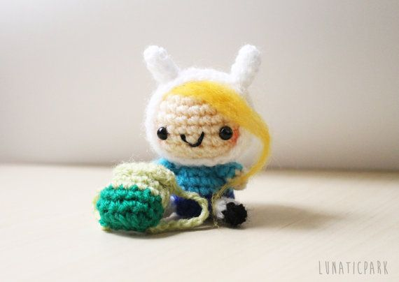 Cute plush of finona, character of the animation Adventure time    {{{PRODUCT…