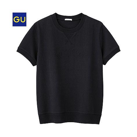 (GU)ロゴスウェットプルオーバー(半袖)JN - GU ジーユー
