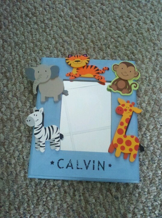 mirrored frame from michaels 299 wooden animals 59 cents each - Wood Frames Michaels