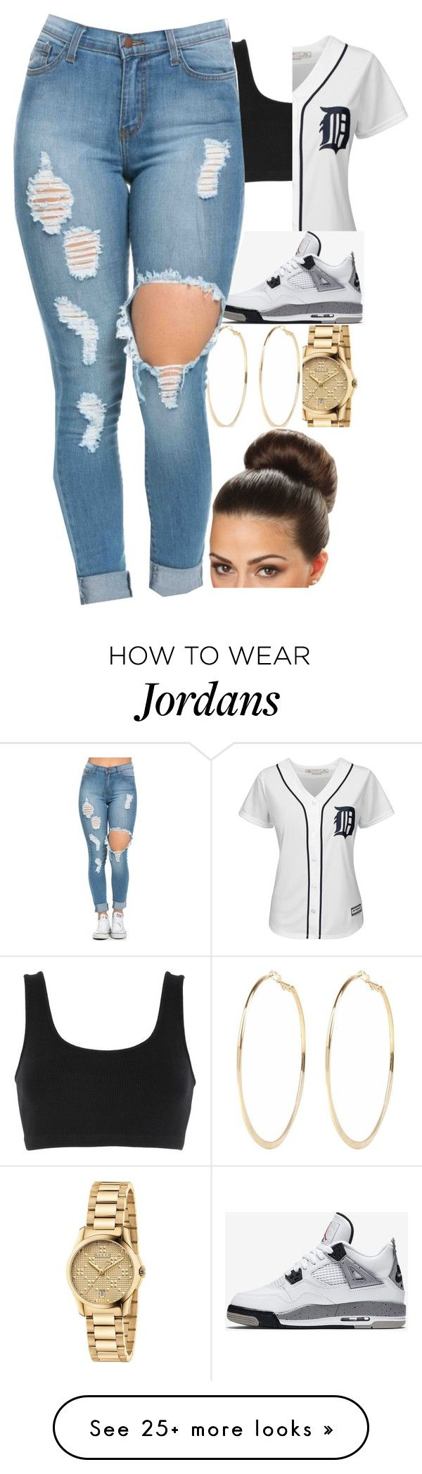 """Untitled #149"" by bawatson926 on Polyvore featuring adidas Originals, Majestic, Gucci, River Island and NIKE"