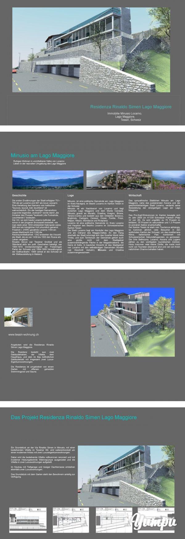 Residenza Rinaldo Simen Lago Maggiore - Magazine with 16 pages: Beschreibung und Expose der im Bau befindlichen Residenza Rinaldo Simen am Lago Maggiore in Minusio bei Locarno.