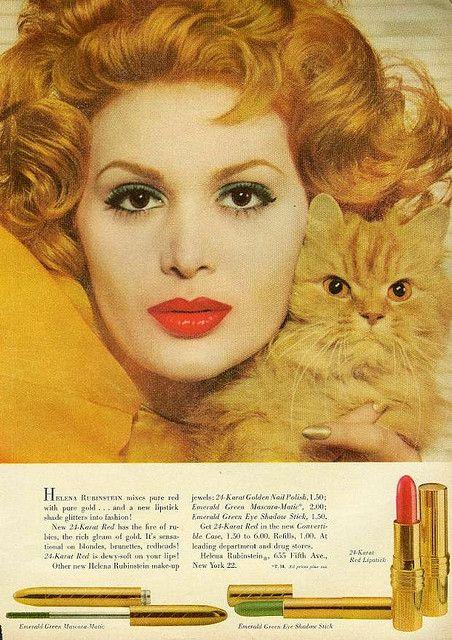 "Helena Rubinstein vintage advertisement - From ""Mademoiselle"" magazine, November 1958"