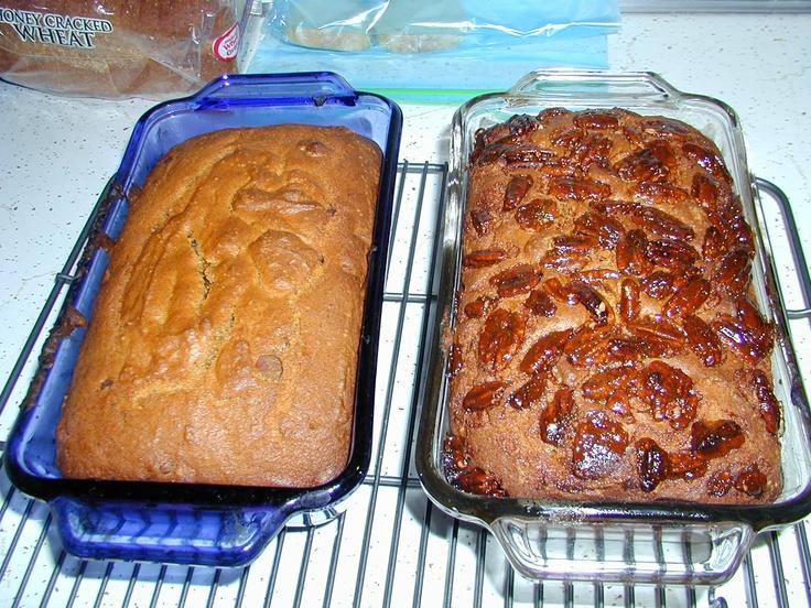 Chocolate Chip Pumpkin Bread and Pecan Pie Pumpkin Bread