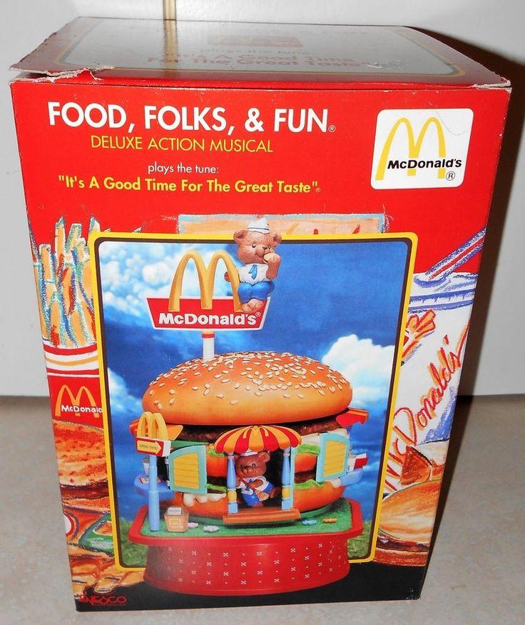 RARE MCDONALD'S FOOD FOLKS & FUN MUSIC BOX ENESCO 1991