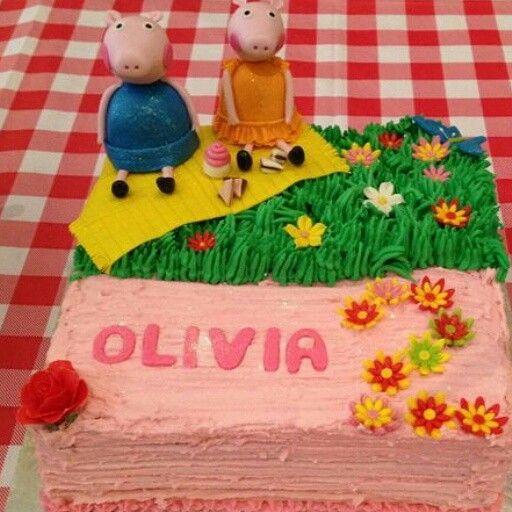 STUNNING peppa Pig cake by Raquel Monteiro