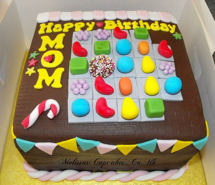 Candy Crush Cake idea to make for my mom's birthday coming up :)