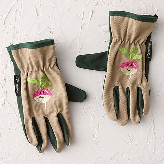 Radish Kid's Garden Gloves - how cute for Dylan to help you!