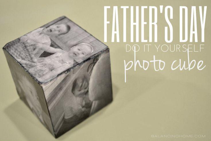 Super stoer voor Vaderdag is deze Fotokubus. Om zelf te maken, dus check snel hoe het moet :)