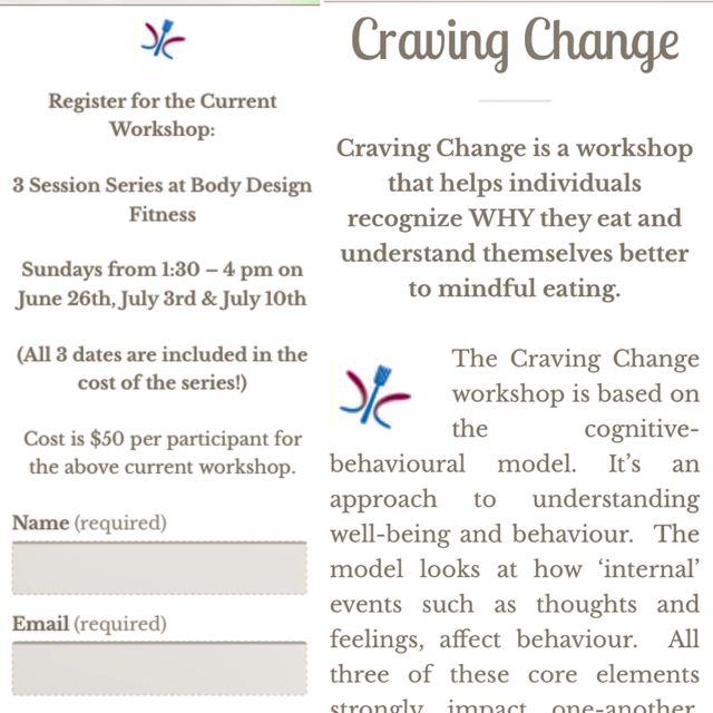 Craving Change mindful eating workshops with Nutrition Bites!