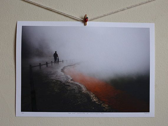Man and Umbrella at Champagne Pool by Pusha on Etsy