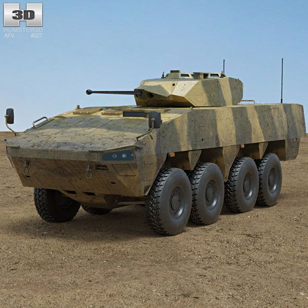 Patria AMV 3d model from Humster3D.com