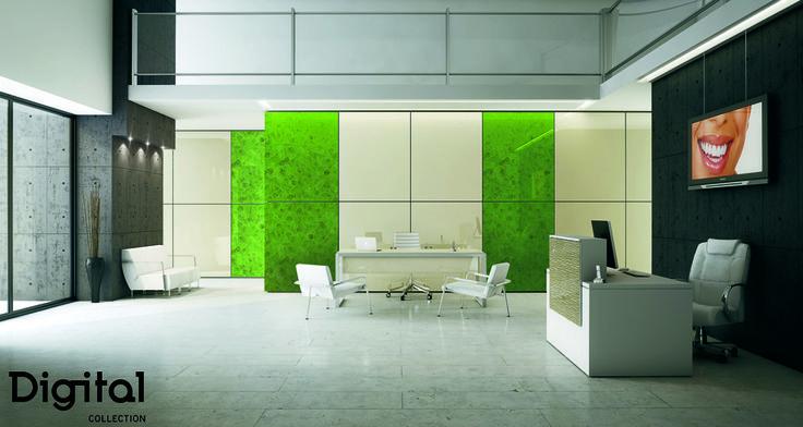 #Mobiliario de locales comerciales de paneles #Luxe Digital Gloss. Más posibilidades de #decoración y #combinación de materiales y productos #Alvic. #Arquitectura, #decor, #Interiorismo.